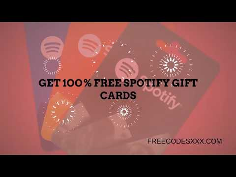 Spotify Gift Cards || Best Spotify Codes 2018