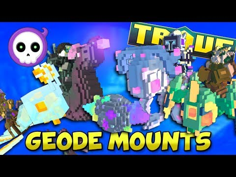 EVERY NEW FREE CRAFTABLE MOUNT COMING TO TROVE GEODE!!