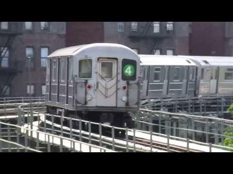 IRT Livonia Avenue Line: R142 and R62A (4) Train Action at Saratoga Avenue