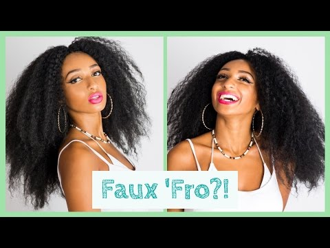 How to install kinky marley hair to create a faux afro (natural protective style)