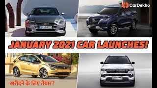 Upcoming Car/SUV Launches January 2021   Fortuner, Compass, A4 & More!   CarDekho.com