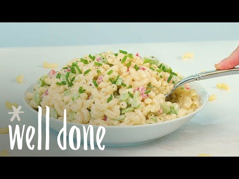 How To Make Traditional Macaroni Pasta Salad | Recipe | Well Done