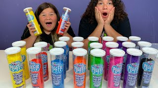 MAKING A GIANT PLUFFLE CAKE SUPER SATISFYING - HIDE N SEEK IN PLUFFLE FOR MONEY!