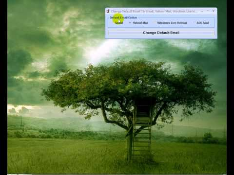 Change Default Email To Gmail, Yahoo! Mail, Windows Live Hotmail or AOL Mail Software