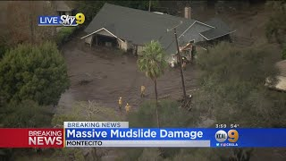 Mudslides in Montecito Cause Monumental Damage, 6 People Rescued and 4 Homes Swept Away