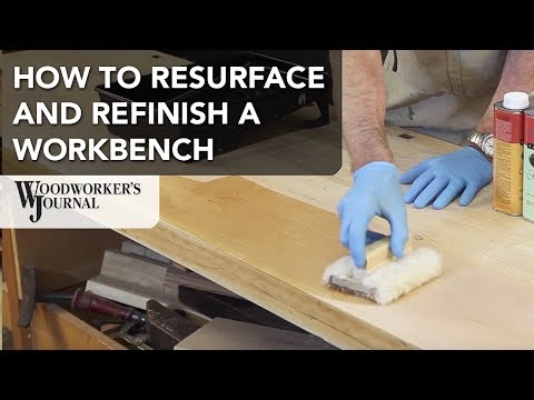 How to Resurface a Workbench Using Hand Planes | Waterlox Finish