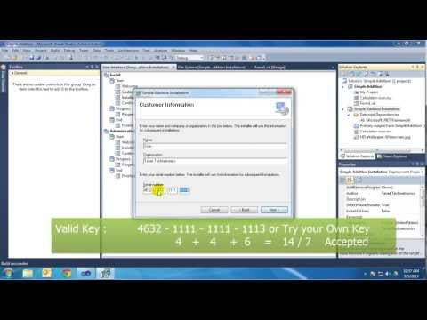 Tenet Technetronics: Make installation File with Serial key Activation