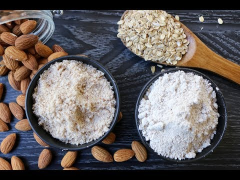 How to Make Almond flour and Oat flour ( Oat Meal )  at Home