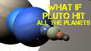 What if Pluto hit every planet