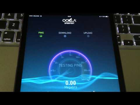 Malaysia 4G LTE Speedtest (iPad Mini)