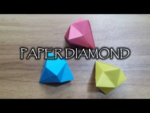 How to Make a Paper Diamond ?