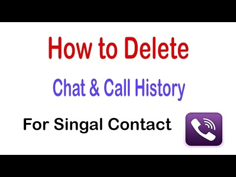 How to Delete Chat & Call History for a Single Contact on Viber