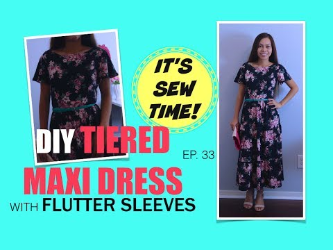 HOWTO DIY TIERED MAXI DRESS WITH FLUTTER SLEEVES