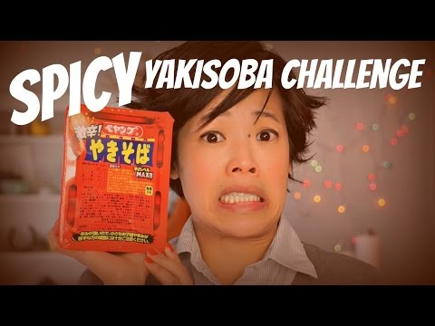 Spicy Yakisoba Challenge - Japanese instant noodles