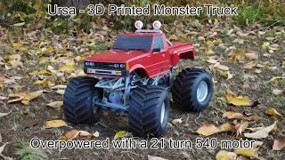 Ursa - Overpowered 3D Printed Monster Truck