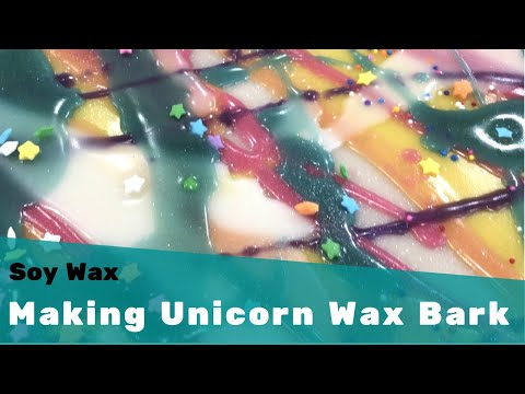 Making Unicorn Soy Wax Bark