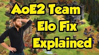 The AoE2 team Elo fix explained