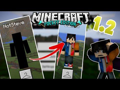 🔥 How To Fix MCPE 1.2 Skin Bug & Use Custom Skins | Black Minecraft Glitch
