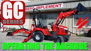 Massey Ferguson CB75 Backhoe on 1700 Premium Cab Compact Tractor
