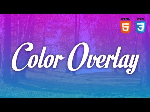Simple CSS Color Overlay For Background Images