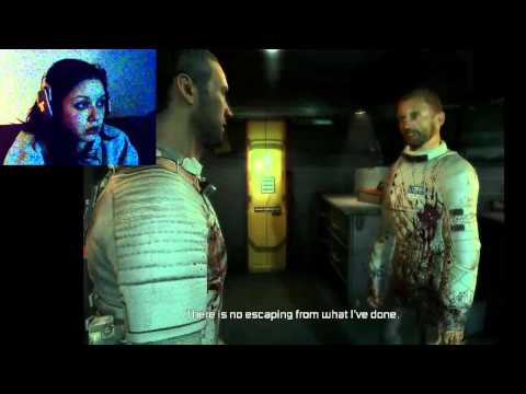 Girlfriend playing Dead Space 2 - Funny Freak Out