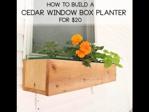 How To Build a Cedar Window Box Planter for $20
