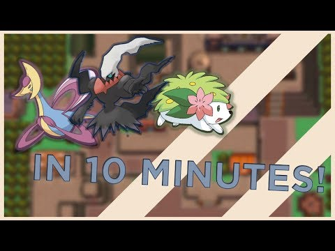 Catch shaymin, darkrai, cresselia in 10 minutes each! (pokemon D/P)