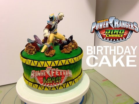 Power Rangers Dino Charge personalized birthday cake idea and tutorial | Gâteau d'anniversaire!