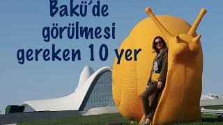 Bakü'ye gelince görülmesi gereken yerler:  1. Etnografya Müzesi 2. Heydar Aliyev Center 3. Bibi Heybet Mescidi 4. Bayrak Direği ve Meydanı 5. Flame Towers 6. İçeri Şehir 7. Şirvanşahlar Sarayı 8. Kız Kalesi 9. Nizami Caddesi 10.   Qobustan Milli Parkı  Daha fazla fotoğraf için ;instagram  daha fazla yazı için; blogdan   herşeyin daha daha fazlası için ;facebook dan takip edebilirsin. Bir sonra ki videoda görüşmek üzere..