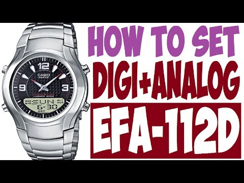 62373984fe7e Setting Casio Edifice EFA-112D manual 2747 to set time - PakVim.net HD  Vdieos Portal