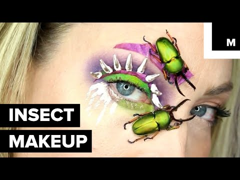 With Maggots as Eyelashes, Artist Sources Dead Insects in Her Makeup
