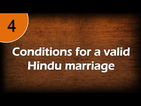 Conditions for a valid Hindu marriage