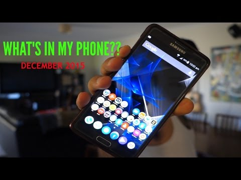 WHAT'S IN MY PHONE DECEMBER 2015