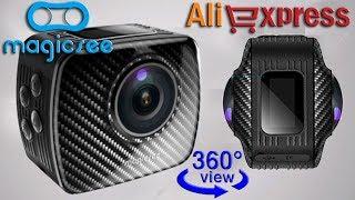 Magicsee P3 360° Panoramic Action Camera - экшн-камера с обзором 360° с Алиэкспресс, видеообзор