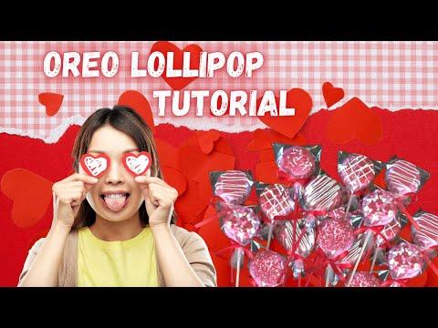 DIY Pinterest Oreo Lollipop Tutorial -Valentines Day Gift Ideas