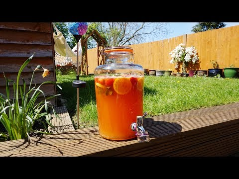 Summer Fruit Punch non-alcoholic BBQ Drink Recipe for Vegans