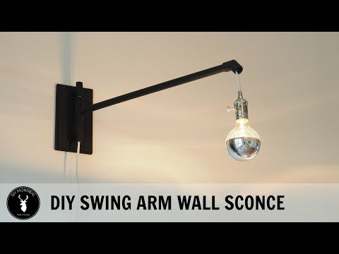 DIY Swing Arm Wall Sconce