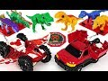 Take Medals And Transform Dino Mecard Capture Car Pteria Militra And Giganoto DuDuPopTOY