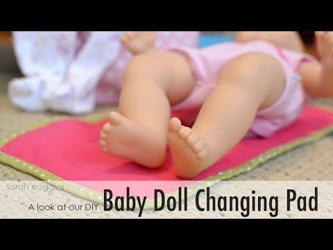 DIY Baby Doll Changing Pad