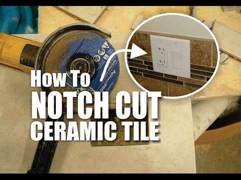 DIY How to Easily Notch Cut Ceramic Tile