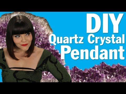 DIY Crystal Pendant, Rough Quartz Crystal