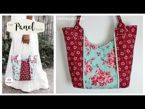 The Panel Tote How to | Pins + Needles Kits | Whitney Sews