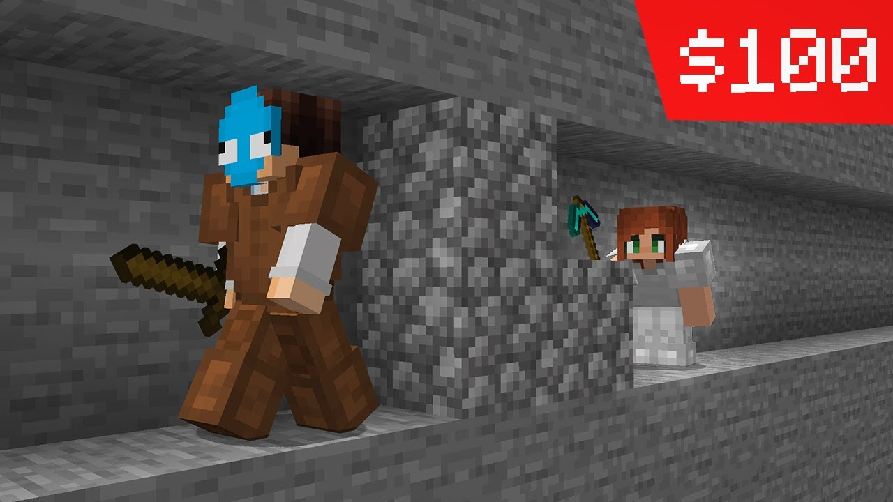 i paid a girl to chase me in minecraft...