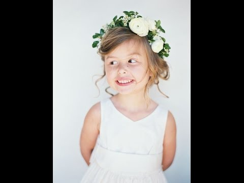 DIY Wedding Flowers: Sturdy Floral Crowns, great for kids!