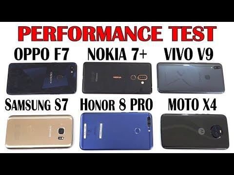 Nokia 7Plus vs Oppo F7 vs Vivo V9 vs Samsung S7 vs Honor 8 Pro vs Moto X4