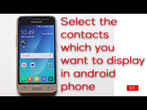 Choose contacts to show in an android phone between Dual sims, Whatsapp  or Gmail contacts