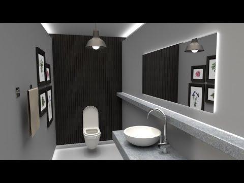 [SketchUp] Simple Bathroom Vray 3.4 Rendering Tutorial
