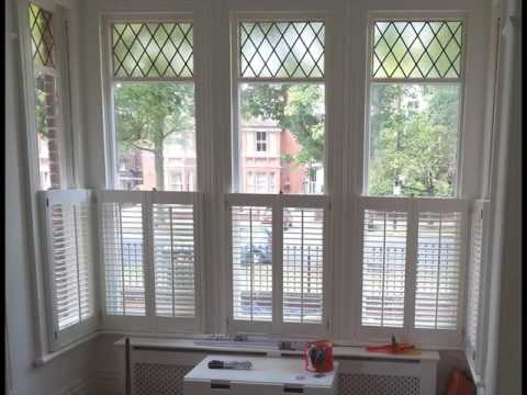 Cafe Style Shutters with Curtains Design