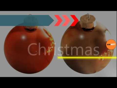Outdoor Christmas Tree Decorations - Glass Christmas Tree