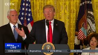 Trump says U.S. will not be